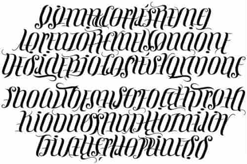 Ambigram-Font-Preview