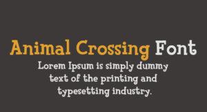 Animal Crossing Font Free Download