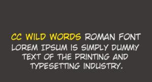 CC Wild Words Roman Font Free Download