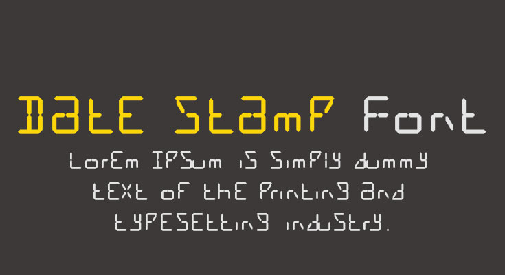 Date Stamp Font Free Download