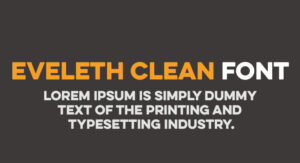 Eveleth Clean Font Free Download