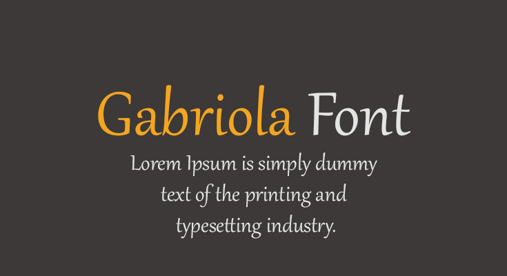 Gabriola Font Free Download