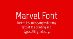 Marvel Font Free Download