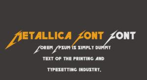 Metallica Font Font Free Download