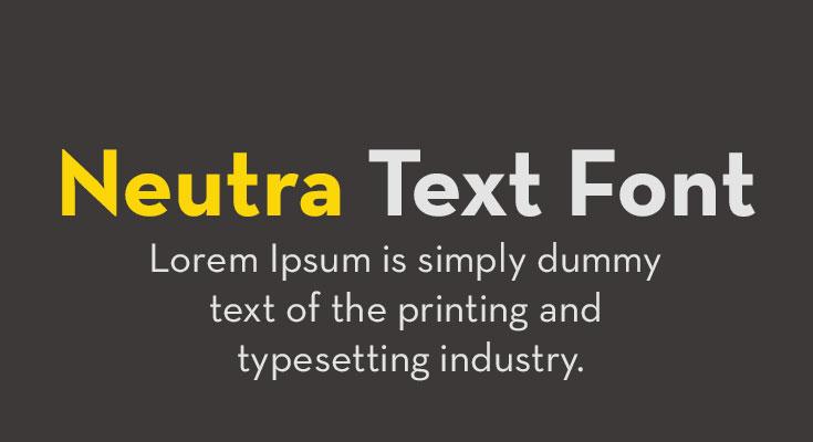 Neutra Text Font Free Download