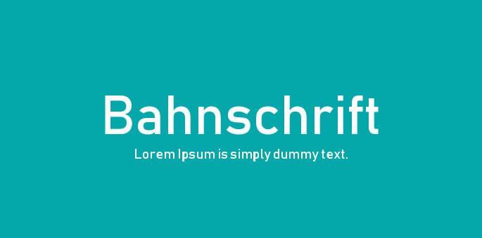 bahnscrift-free-font