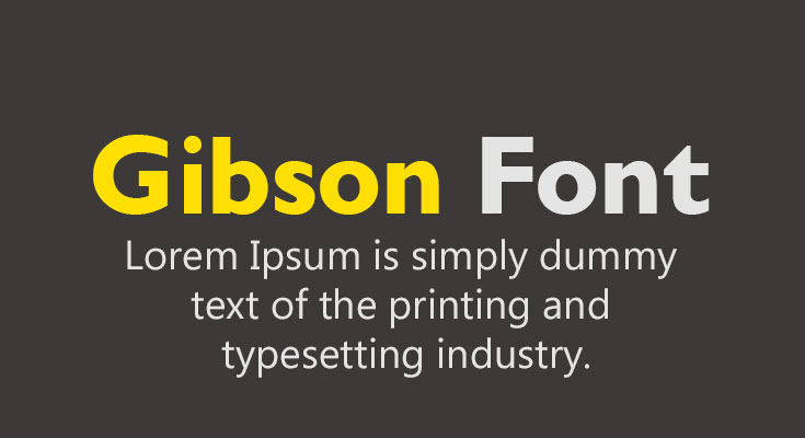 Gibson Font Free Download
