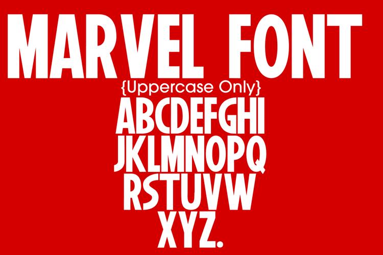 marvel font preview