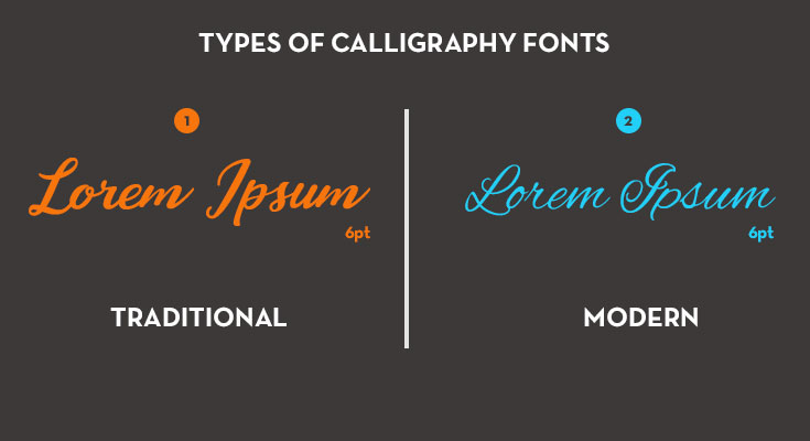 modern-and-traditional calligraphy fonts