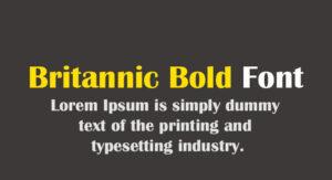 Britannic Bold Font Free Download