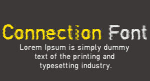 Connection Font Free Download