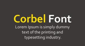 Corbel Font Free Download