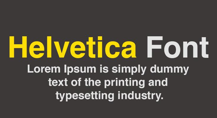 Helvetica Font Free Download