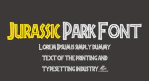 Jurassic Park Font Free Download