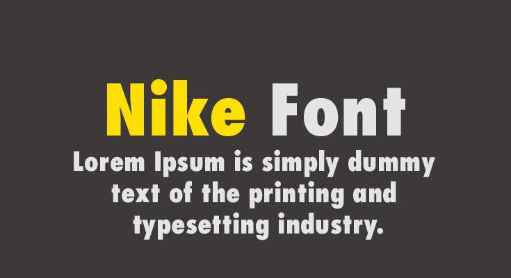 Nike Font Free Download