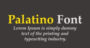 Palatino Font Free Download