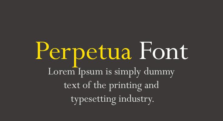 Perpetua Font Free Download