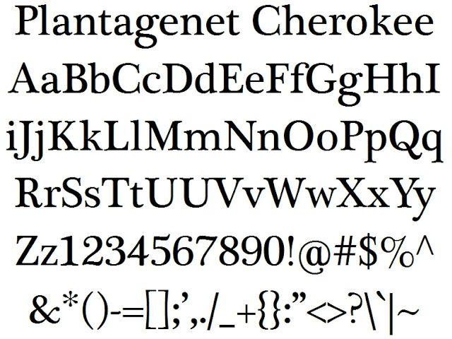 Plantagenet Cherokee Font free