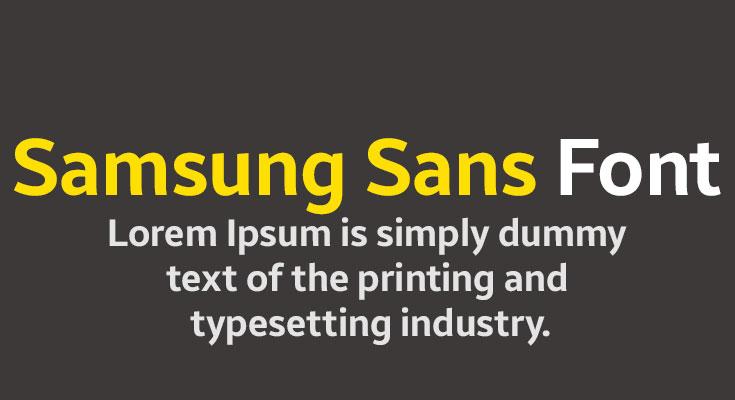 Samsung Sans Font Free Download