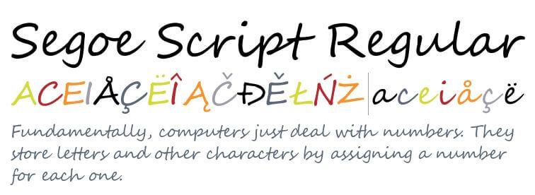 Segoe-script-font