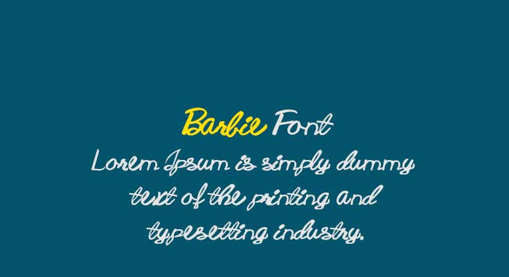 Barbie Font Free Download
