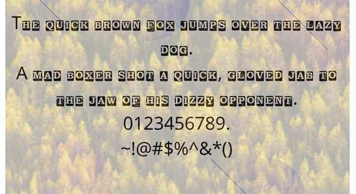 Block letter Regular Font Free Download