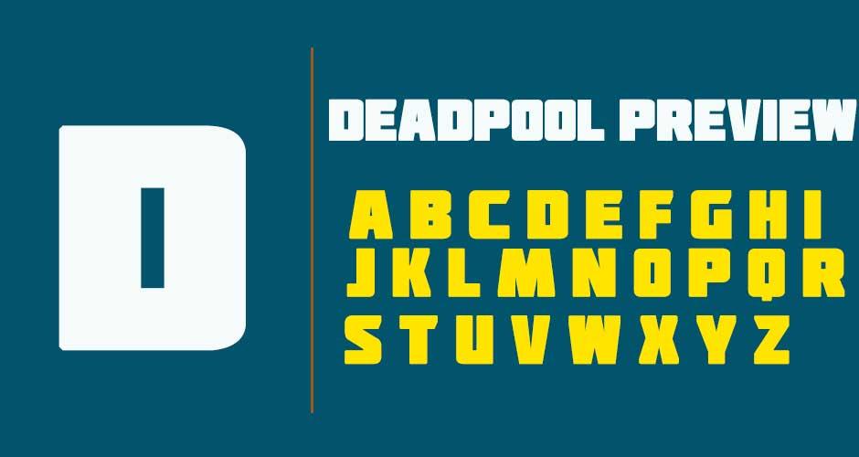 Deadpool-Font