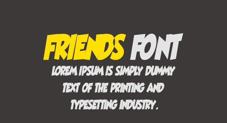 Friends Font Free Download