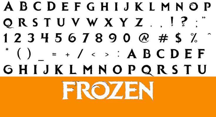 Frozen-Font-free