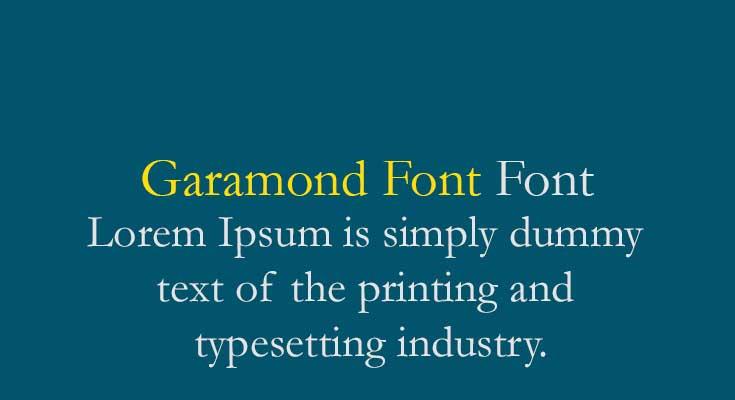 Garamond-Font-free