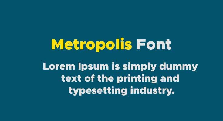 Metropolis Font Free Download