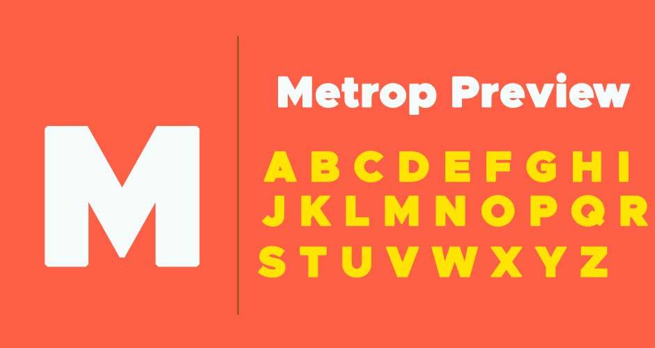 Metropolis-Font-Family