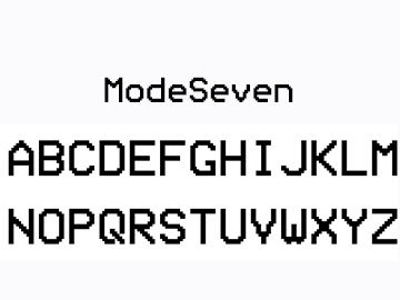 ModeSeven-Font-preview