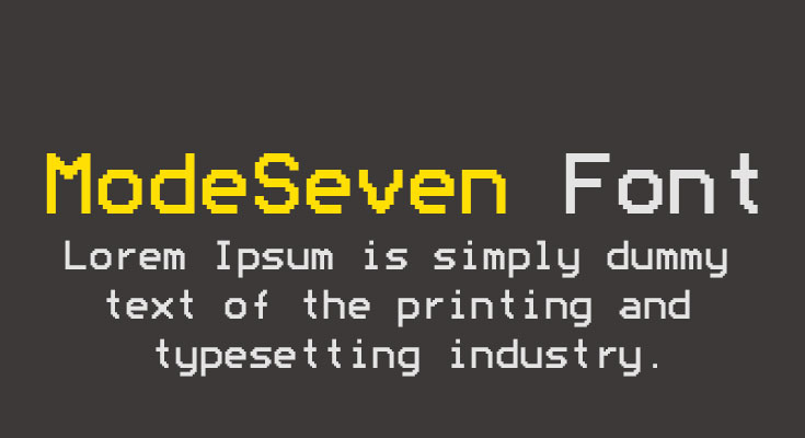 ModeSeven Font Free Download