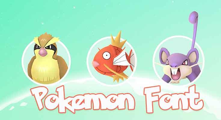 Pokemon Font Free Download
