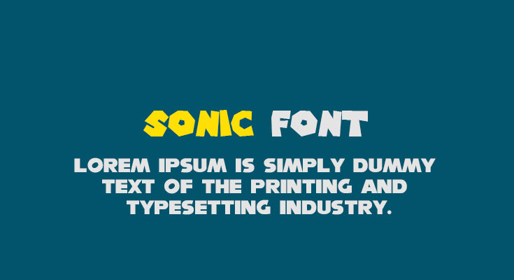Sonic Font Free Download