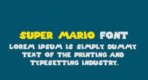 Super Mario Font Free Download