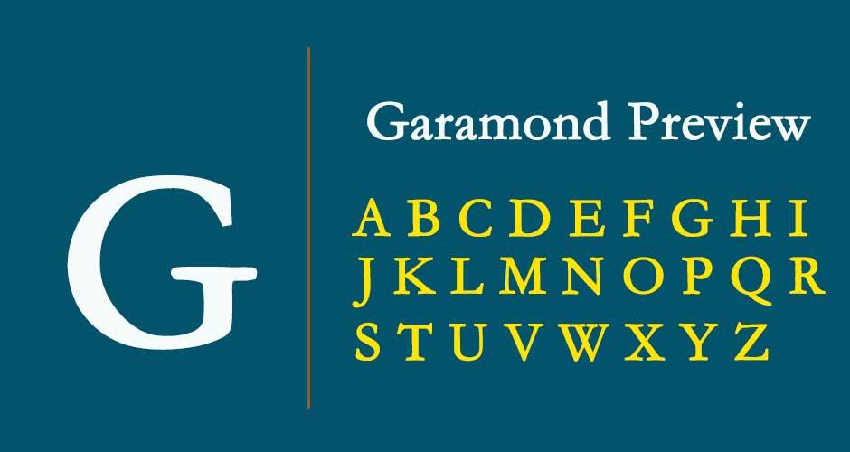 Garamond Font Free Download