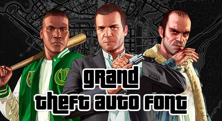 Grand Theft Auto Font Free Download