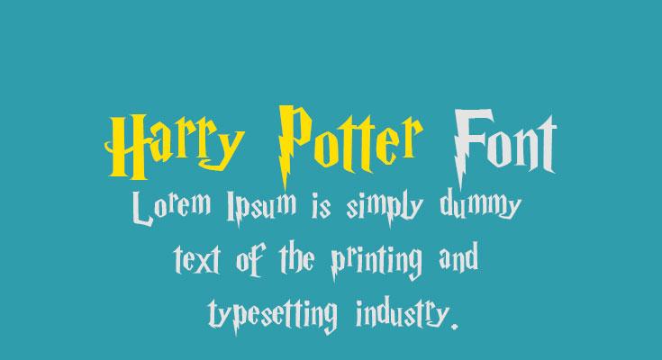 Harry Potter Font Free Download