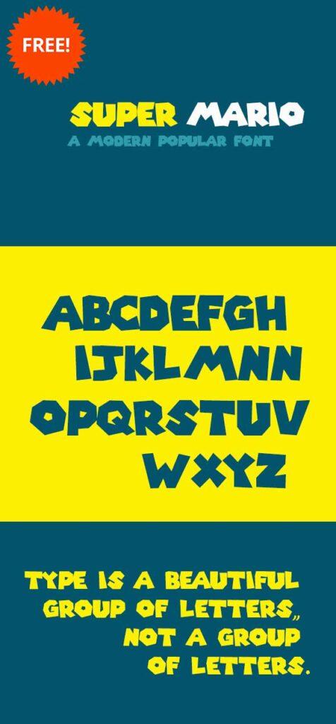 super-mario-free-font