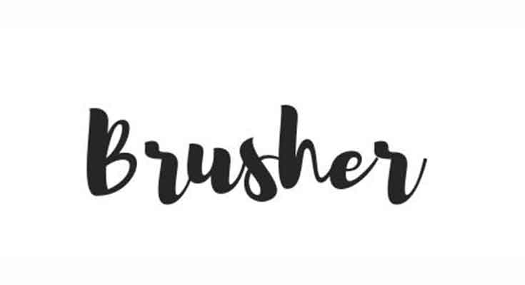 Brusher Font Free Download