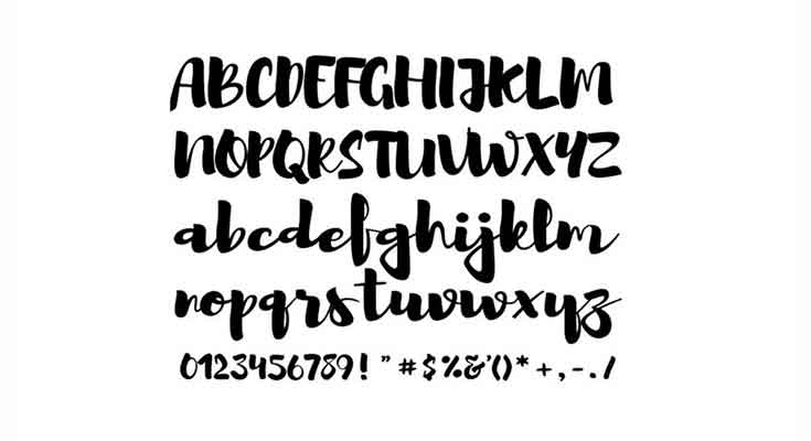 Brusher-Font-Preview