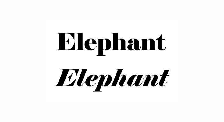 Elephant Font Free Download