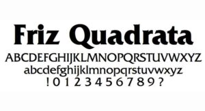 Friz Quadrata Font Free Download