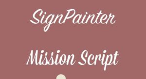 Sign Painter Font Free Download