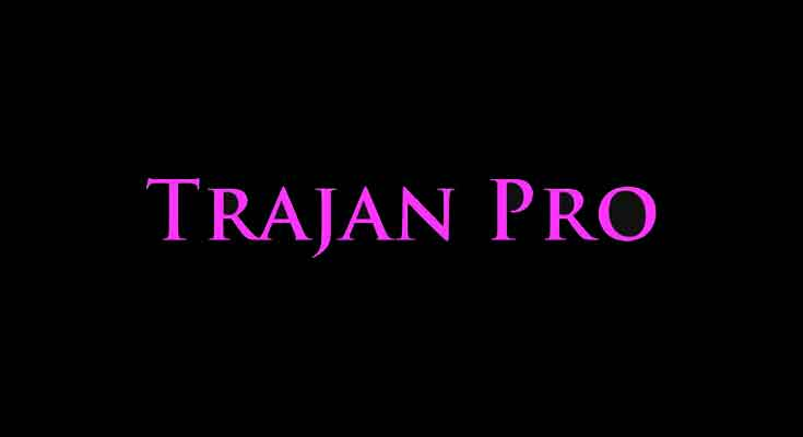 Trajan Pro Font Free Download