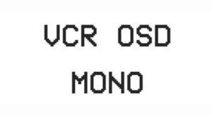 Vcr Osd Mono Font Free Download