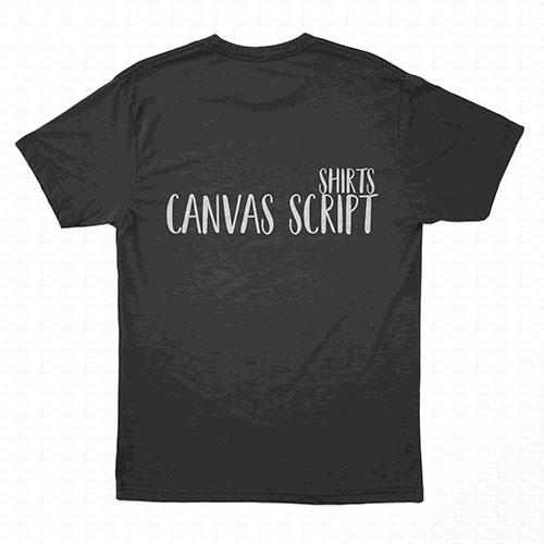 canvas-script-font