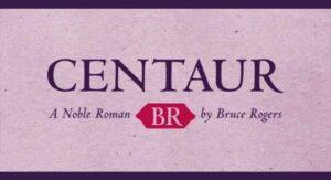 Centaur Font Free Download
